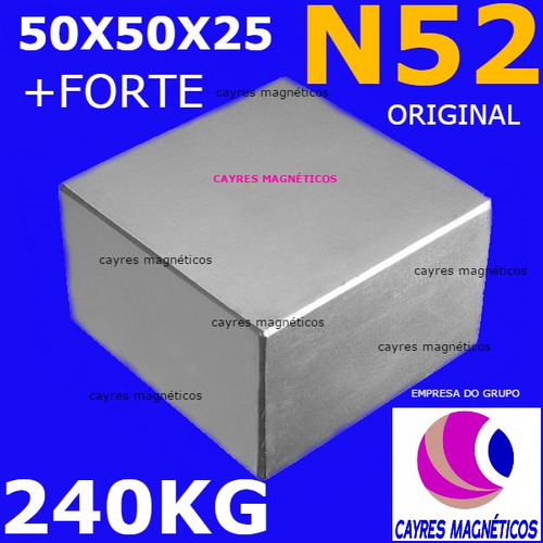 super ímã de neodímio bloco  trava tudo n52 + forte q n50