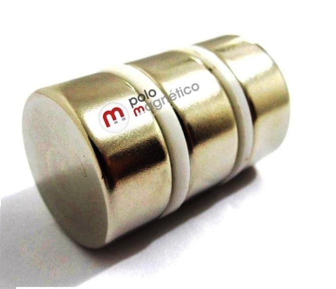 f787e6d34aa Super Imas Ima Neodímio Disco 22x10 Mm Sup. 14 Kg N42 6 Pç - R  120 ...