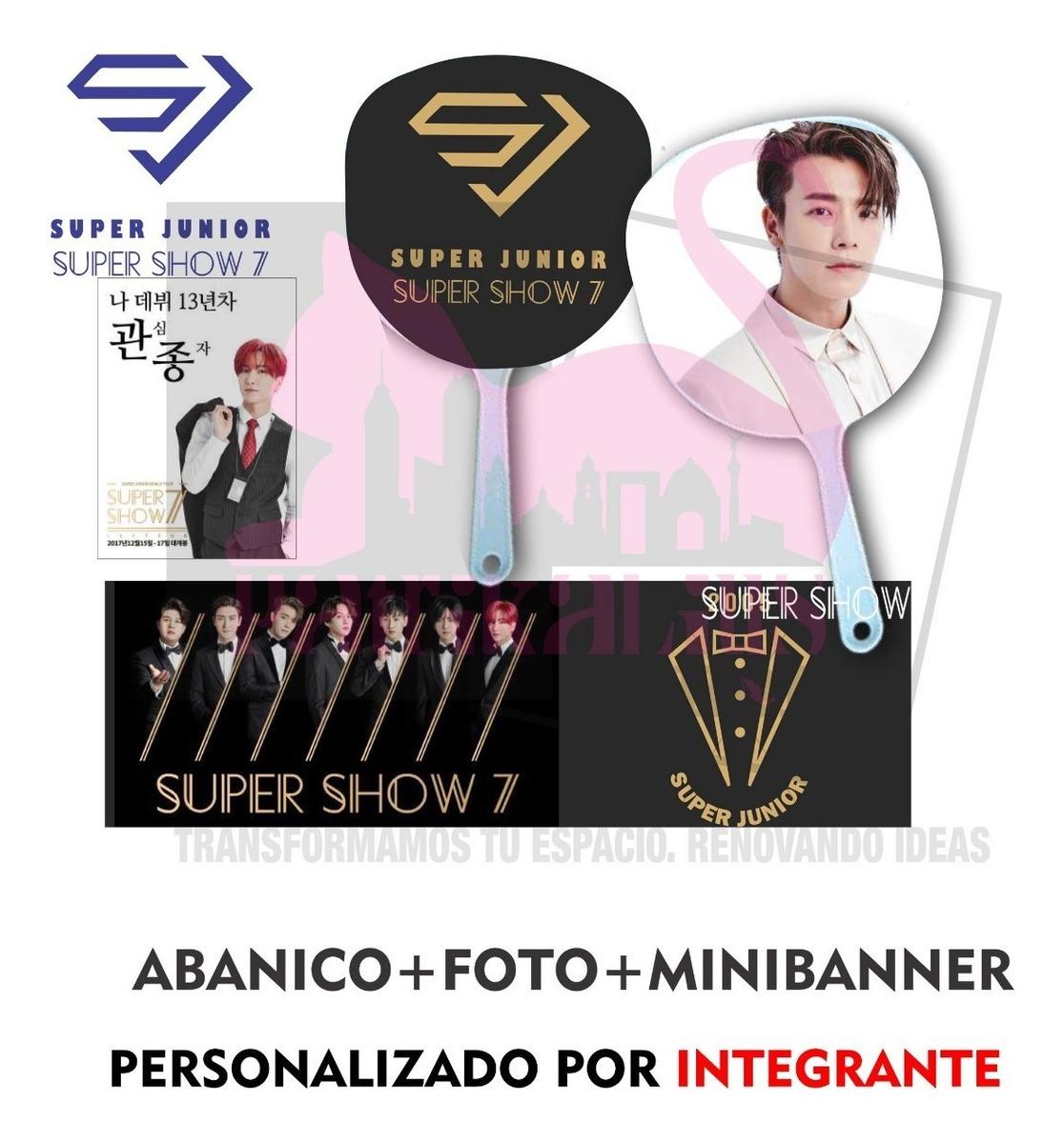 Super Junior Super Show 7 Abanico+foto+banner