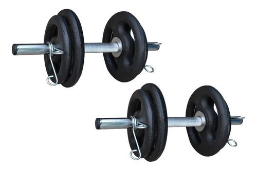 super kit 40kg de anilhas + barras cromadas