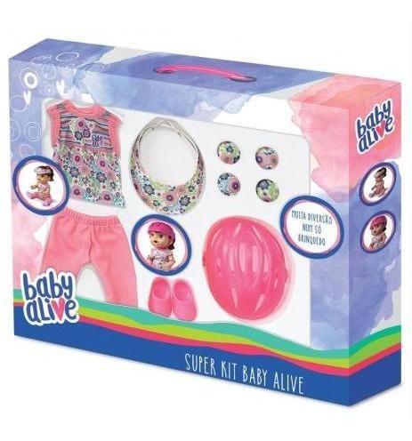 super kit baby alive esporte e proteção para boneca - hasbro
