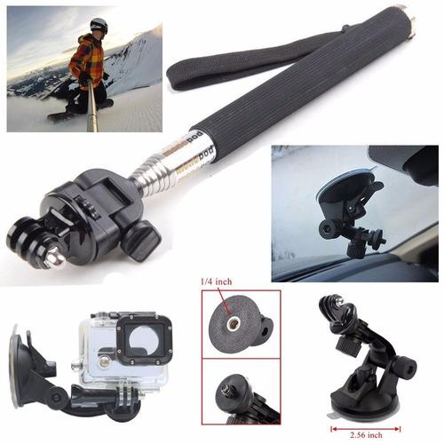 super kit de accesorios para cámara gopro 5 y 4k con trípode