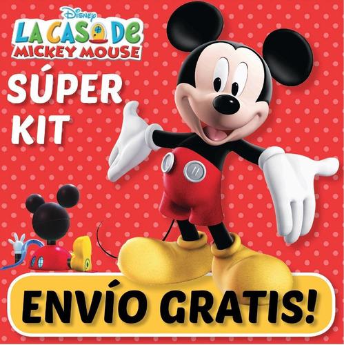 super kit imprimible casa mickey mouse. invitaciones 2x1