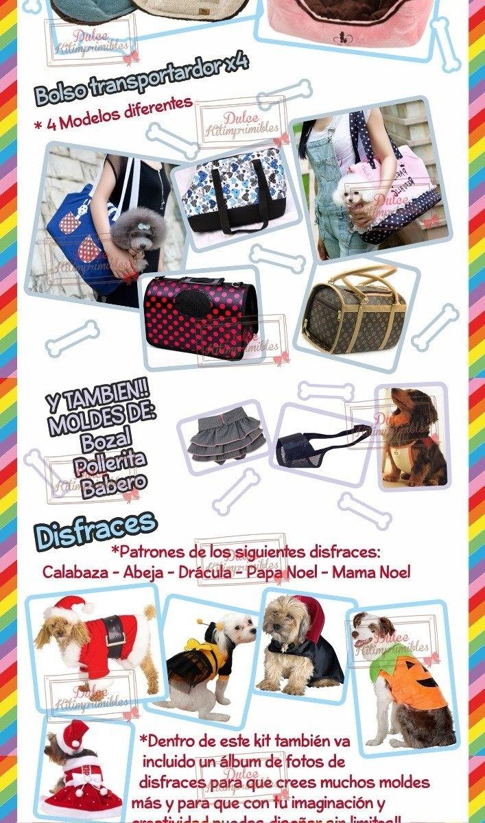 Super Kit Imprimible Moldes Y Patrones De Ropa Para Perros - $ 1.990 ...