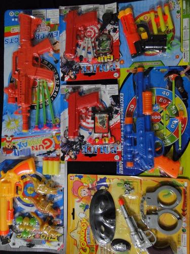 super kit nerf revolver pistola metralha rifle tiro alvo