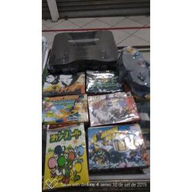 Super Kit Nintendo 64+1 Controle Novo +6 Jogos Classicos