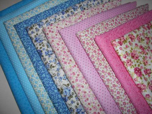 super kit tecido patchwork algodão -10 cortes 50x70 cm h10ra