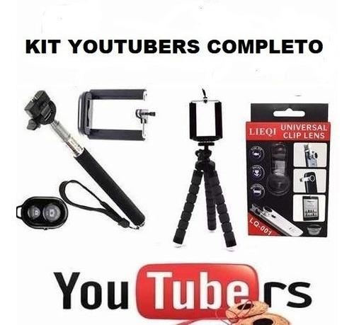 super kit youtubers completo para videos e fotos celular