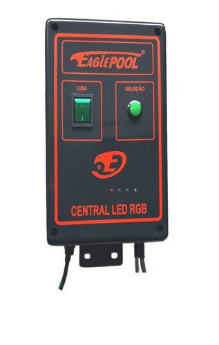 super led central comando iluminação piscina rgbm 12a -144w