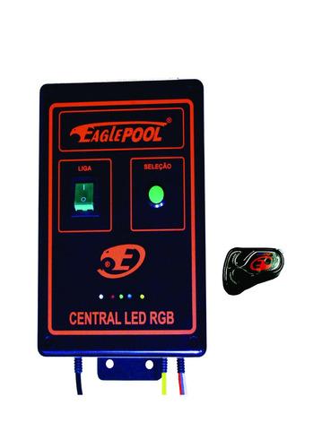 super led central comando iluminação piscina rgbm 3a - 36w
