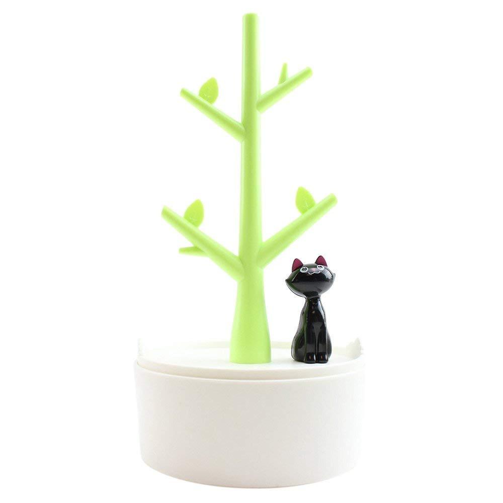 e45cd2ba4bdd super lindo diseño de gato joyero pendientes perchas alma... Cargando zoom.