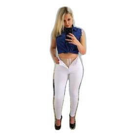 Super Lipo Cor Branca 706 Sawary Jeans Saware Calça Cinta Li