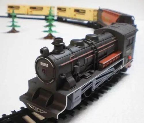 super locomotiva luz som 40 pçs trenzinho ferrorama braskit