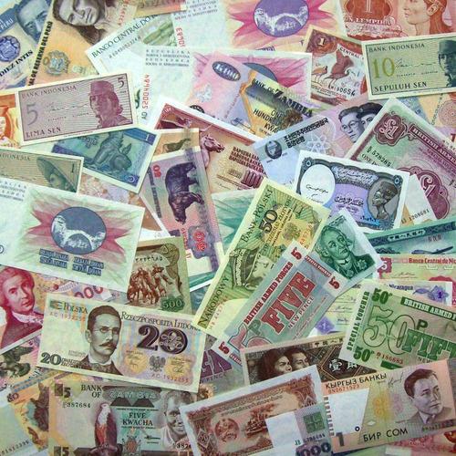 super lote 15 billetes internacionales surtidos ¡ s/ circ. !