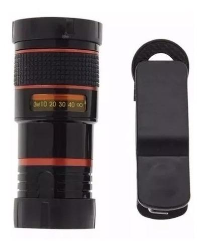 super luneta lente telescópio para celular zoom 8x + tripe