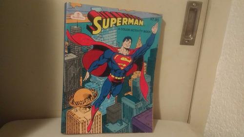 super man comic colorear