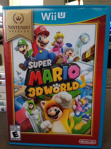 super mario 3d world nintendo selects wii u completo !