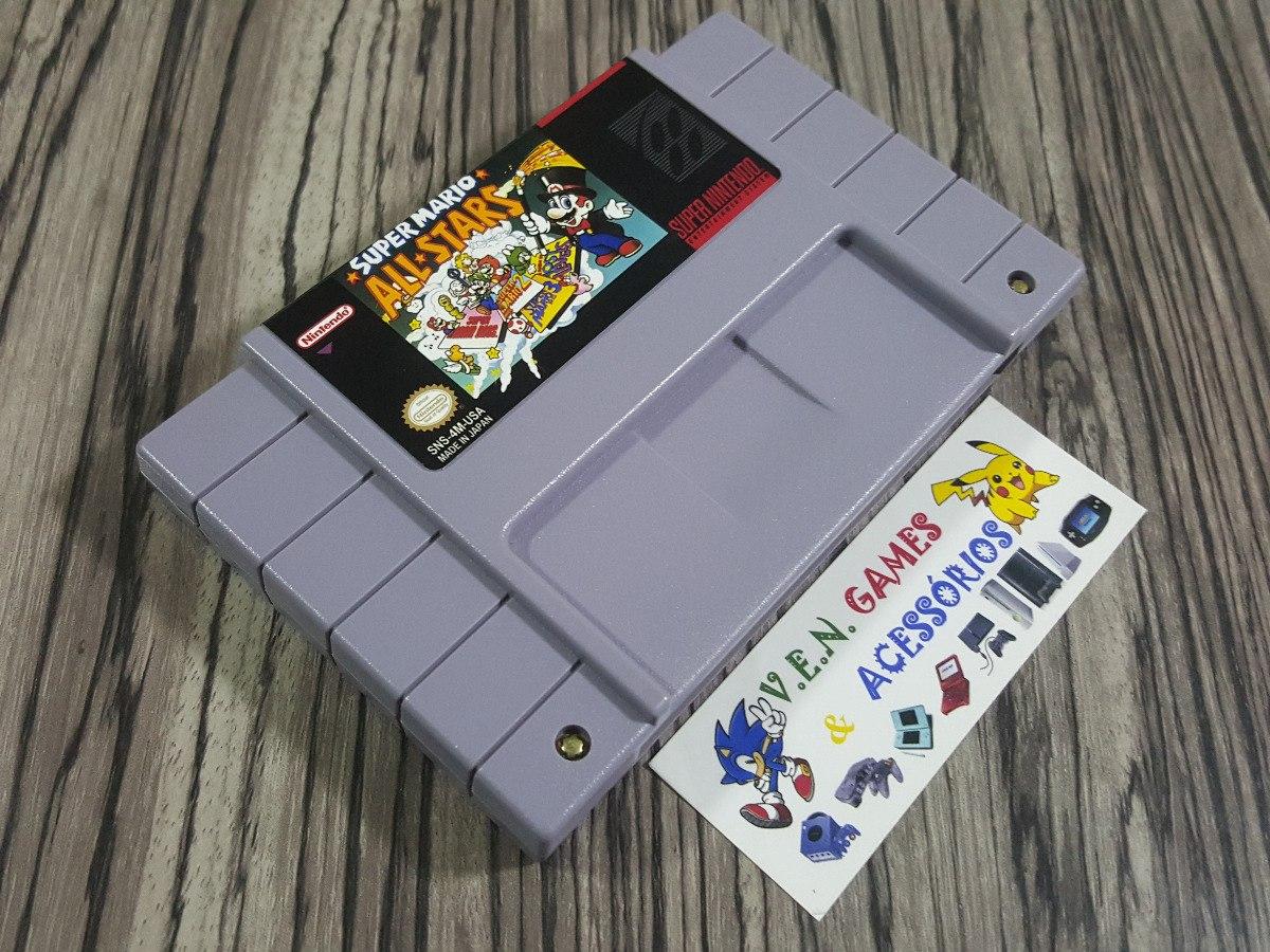 060c0e93417 Super Mario All-star Original Repro Snes + Garantia!!!!! - R  110
