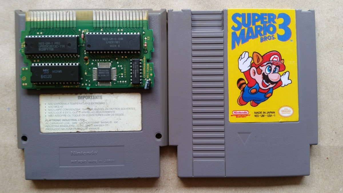 Super Mario Bros  3 Relabel Frontal Nes 8 Bits Original Leia