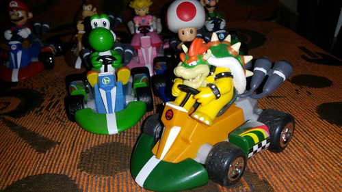super mario bros cars  set x 7 de coleccion a friccion