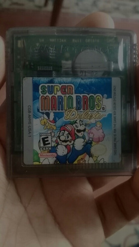super mario bros deluxe para game boy color.