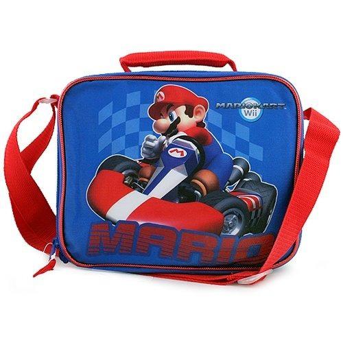 super mario mariokart wii lunch bag [blue]