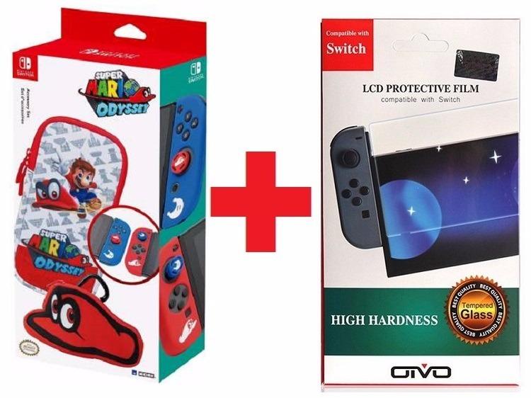 Super Mario Odyssey Nintendo Switch Case Pelicula Vidro