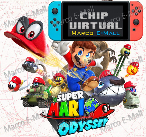 super mario odyssey nintendo switch +chip virtual (lea 1ro)