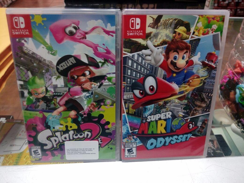 Super Mario Odyssey Splatoon 2 Nintendo Switch