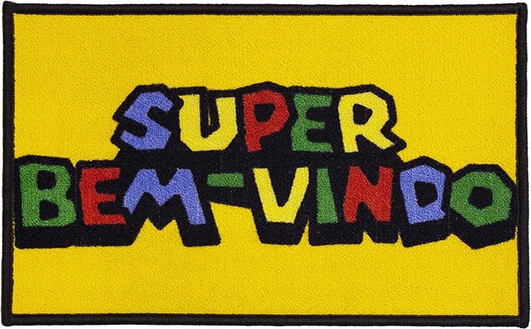 Super Mario Tapete Para Entrada Super Bem Vindo