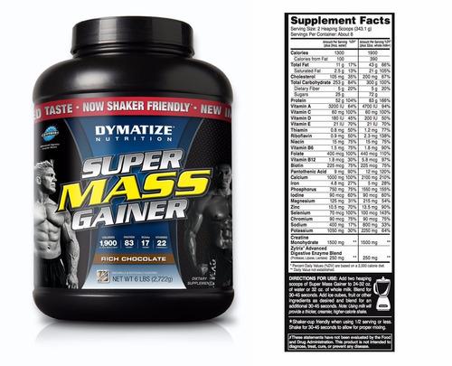 super mass gainer proteína 6 libras dymatize
