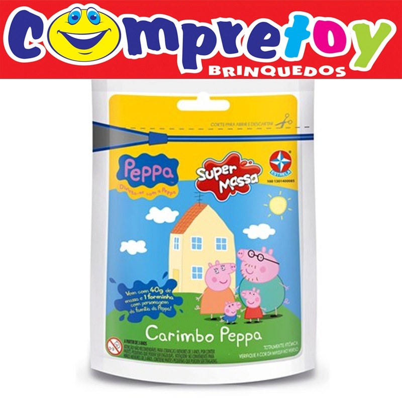 Super-Massa-Carimbo-Sortido-da-Peppa-Pig-com ...