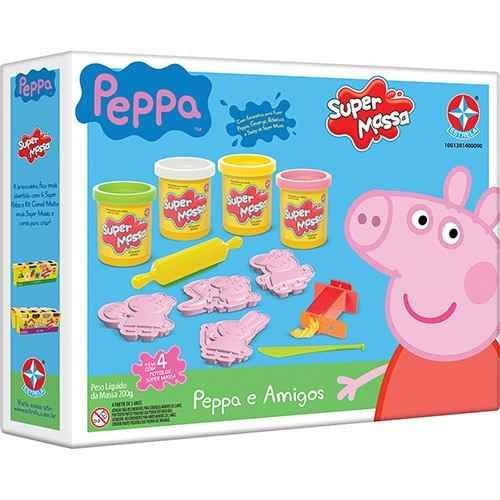 super massinha para criança peppa pig e amigos estrela