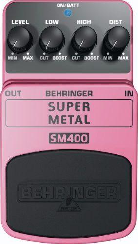 super metal sm400 pedal behringer + cable gratis shure..