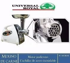 super molino de carne electrico universal royal