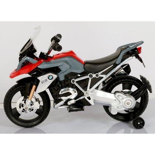 super moto elétrica infantil bmw gs vermelha recarregável