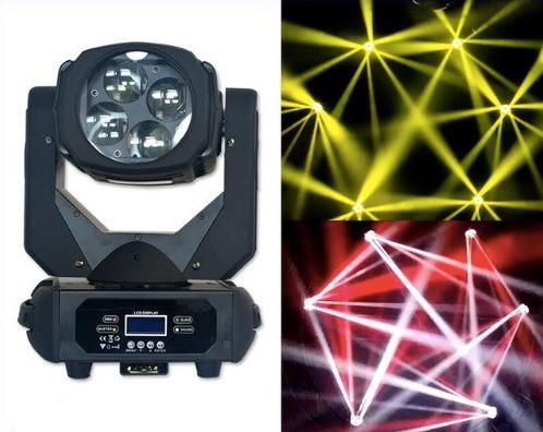 super moving beam 4x25w 100w potente caleidoscopio somosloja