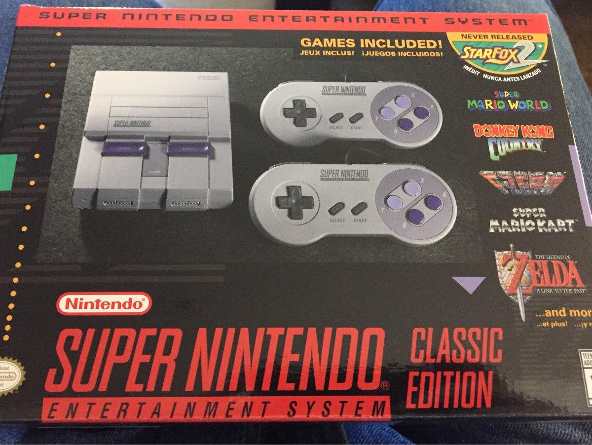 Super Nes Classic Edition Nintendo 21 Juegos Clasicos 2 500 00