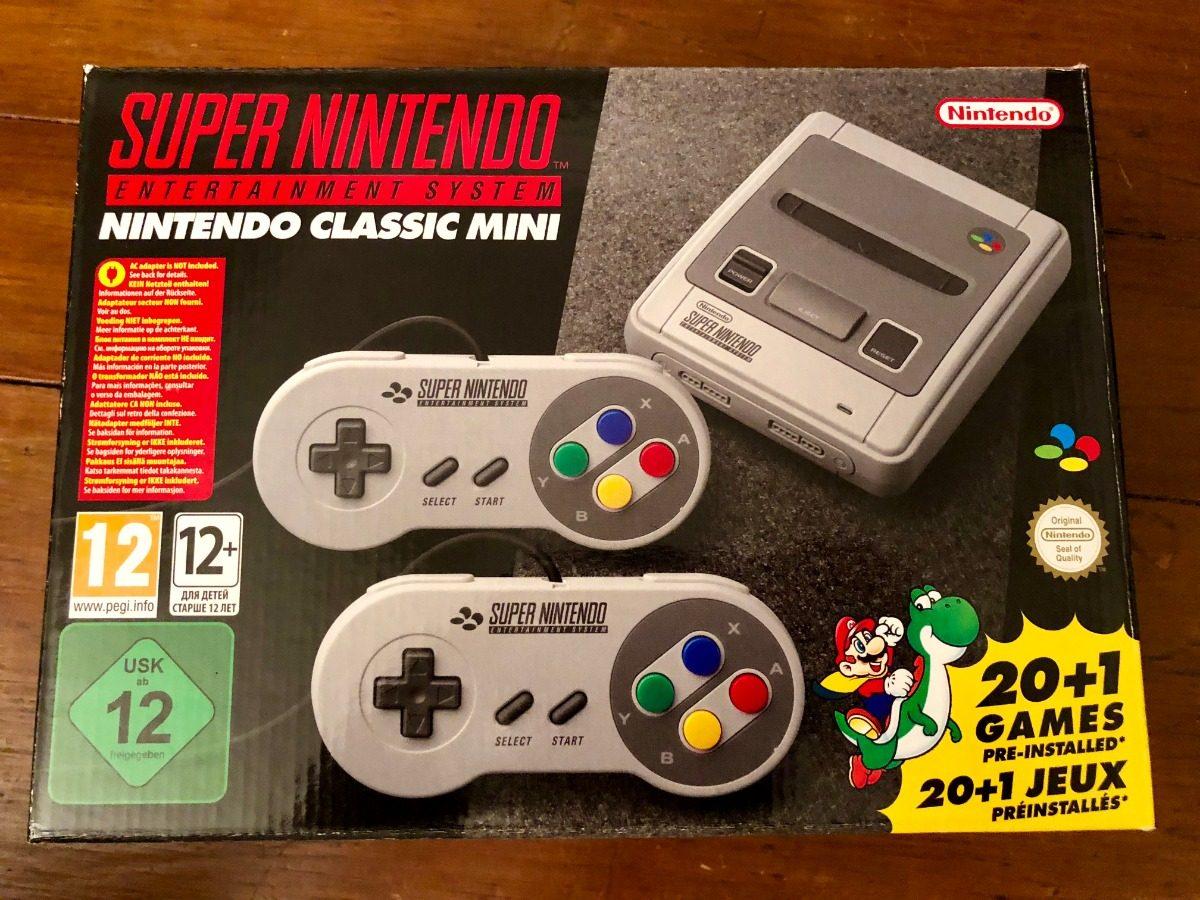 Super Nes Classic Mini Nueva Super Nintendo 21 Juegos