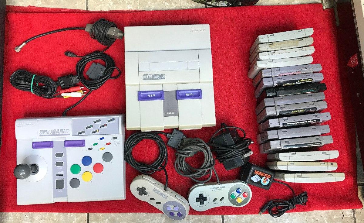 Super Nintendo 15 Juegos Accesorios Snes Nes Sega Atari S
