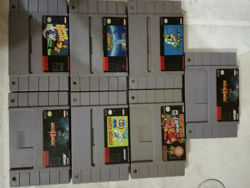super nintendo cartucho original snes mario mk2 dk aladdino