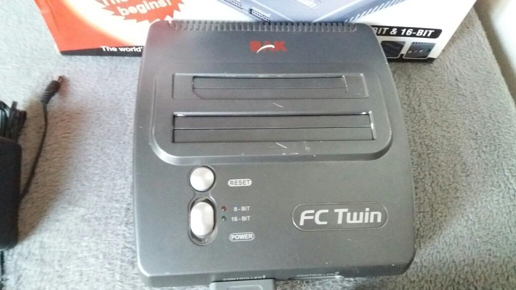 Super Nintendo Fc Twin Completo Na Caixa 8 Bit E 16 Bit