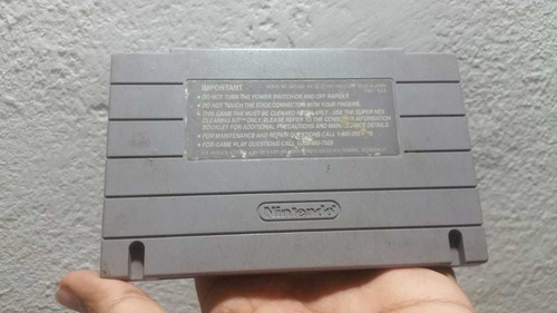 super nintendo juego super mario world original