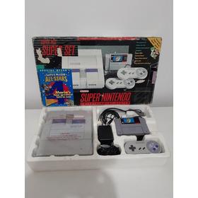 Super Nintendo Na Caixa Com Isopor Manual.