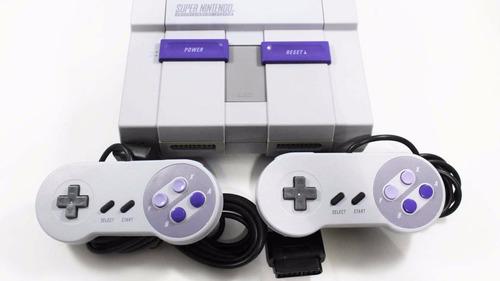 super nintendo snes classic original 2 controles 21 juegos