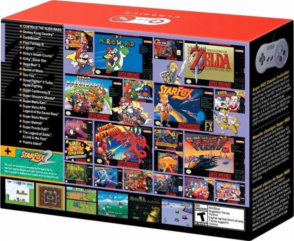 Super Nintendo Snes Mini Classic Original Nuevo 21 Juegos