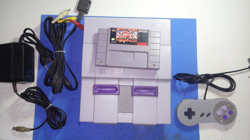 super nintendo + street fighter 2 original