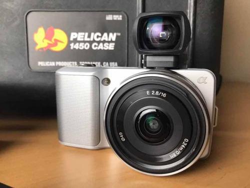 súper oferta camara sony nex3 con 5 lentes pelican case