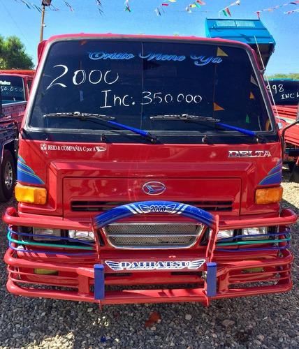 super oferta camion daihatsu delta 2000 cama cortta  rojo