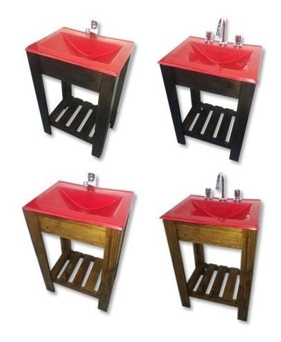 super oferta combo baño bacha vanitory griferia 55cm